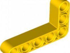 Lego alkatrész - Yellow Technic, Liftarm 3x5 L-Shape Thick