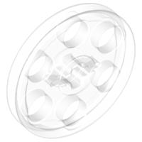 Lego alkatrész - Trans-Clear Technic Wedge Belt Wheel (Pulley)
