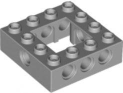 Lego alkatrész - Light Bluish Gray Technic, Brick 4x4 Open Center