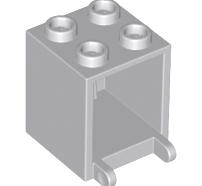 Lego alkatrész - Light Bluish Gray Container, Box 2x2x2