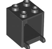 Lego alkatrész - Black Container, Box 2x2x2