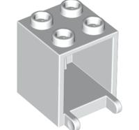 Lego alkatrész - White Container, Box 2x2x2