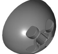 Lego alkatrész - Dark Bluish Gray Cylinder Hemisphere 3x3 Ball Turret