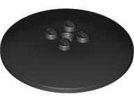 Lego alkatrész - Black Dish 6x6 Inverted (Radar) - Solid Studs