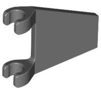 Lego alkatrész - Dark Bluish Gray Flag 2x2 Trapezoid