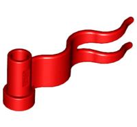 Lego alkatrész - Red Flag 4x1 Wave