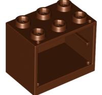 Lego alkatrész - Reddish Brown Container, Cupboard 2x3x2