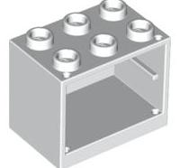 Lego alkatrész - White Container, Cupboard 2x3x2