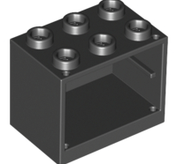 Lego alkatrész - Black Container, Cupboard 2x3x2