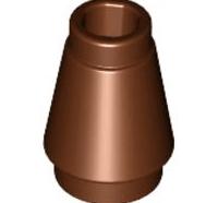 Lego alkatrész - Reddish Brown Cone 1x1 with Top Groove