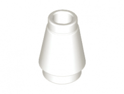 Lego alkatrész - White Cone 1x1 with Top Groove