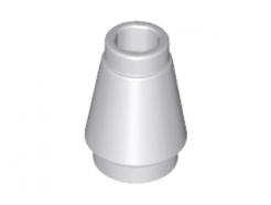 Lego alkatrész - Light Bluish Gray Cone 1x1 with Top Groove