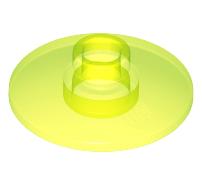 Lego alkatrész - Trans-Neon Green Dish 2x2 Inverted (Radar)
