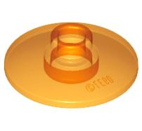 Lego alkatrész - Trans-Orange Dish 2x2 Inverted (Radar)