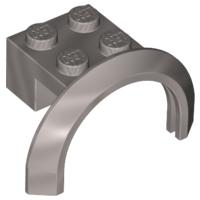 Lego alkatrész - Flat Silver Vehicle, Mudguard 4x2 1/2x1 2/3 with Arch Round