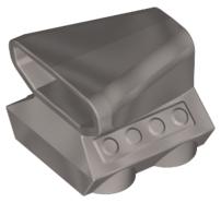 Lego alkatrész - Flat Silver Vehicle, Air Scoop Top 2x2