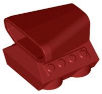 Lego alkatrész - Dark Red Vehicle, Air Scoop Top 2x2