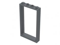 Lego alkatrész - Dark Bluish Gray Door Frame 1x4x6 Type 2