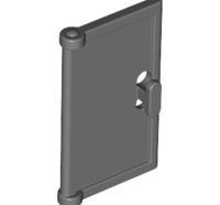 Lego alkatrész - Dark Bluish Gray Door 1x2x3 with Vertical Handle, New Mold for Tabless Frames
