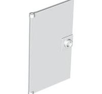 Lego alkatrész - White Door 1x4x6 with Stud Handle