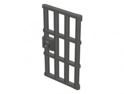 Lego alkatrész - Pearl Dark Gray Door 1x4x6 Barred with Stud Handle