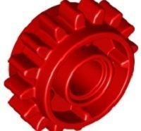 Lego alkatrész - Red Technic, Gear 16 Tooth with Clutch on Both Sides