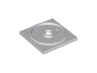 Lego alkatrész - Light Bluish Gray Turntable 4x4 Square Base, Locking