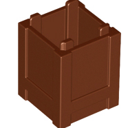 Lego alkatrész - Reddish Brown Container, Box 2x2x2 - Top Opening