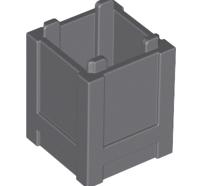 Lego alkatrész - Dark Bluish Gray Container, Box 2x2x2 - Top Opening