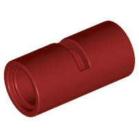 Lego alkatrész - Dark Red Technic, Pin Connector Round 2L with Slot (Pin Joiner Round)