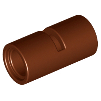 Lego alkatrész - Reddish Brown Technic, Pin Connector Round 2L with Slot (Pin Joiner Round)
