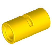 Lego alkatrész - Yellow Technic, Pin Connector Round 2L with Slot (Pin Joiner Round)