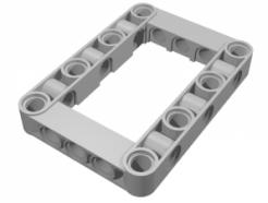 Lego alkatrész - Light Bluish Gray Technic, Liftarm 5x7 Open Center Frame Thick