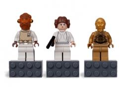 Lego hűtőmágnes - Star wars - C-3PO, Princess Leia, Admiral Ackbar