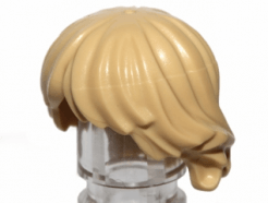 Lego alkatrész - Tan Minifig, Hair Tousled and Layered