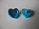 Lego alkatrész - Medium Azure Friends Accessories Hair Decoration, Heart with Pin