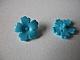 Lego alkatrész - Medium Azure Friends Accessories Hair Decoration, Flower with Serrated Petals and Pin