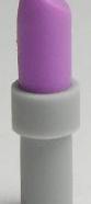 Lego alkatrész - Medium Lavender Friends Accessories Lipstick with Light Bluish Gray Handle