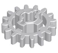 Lego alkatrész - Light Bluish Gray Technic, Gear 16 Tooth (New Style Reinforced)