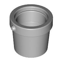 Lego alkatrész - Light Bluish Gray Container, Bucket 1x1x1