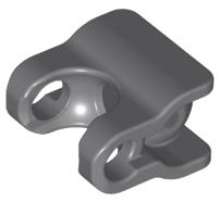 Lego alkatrész - Dark Bluish Gray Hero Factory Arm / Leg Extender with Ball Joint and Ball Socket