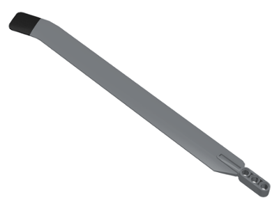 Lego alkatrész - Dark Bluish Gray Technic Rotor Blade Large with 3L Liftarm Thick and Black Rubber Tip