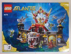 Lego Atlantis – Sérült Összeszerelési útmutató 8078-2