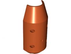 Lego alkatrész - Dark Orange Vehicle, Tipper Drum 3x6x10 Half with 4 Pin Holes