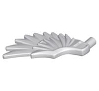 Lego alkatrész - Light Bluish Gray Minifig, Wing Feathered