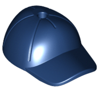 Lego alkatrész - Dark Blue Minifig, Headgear Cap - Short Curved Bill with Seams and Hole on Top