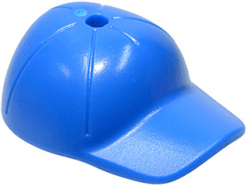Lego alkatrész - Blue Minifig, Headgear Cap - Short Curved Bill with Seams and Hole on Top
