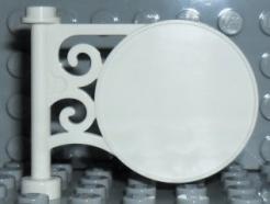 Lego alkatrész - White Road Sign Round on Pole