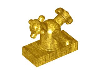 Lego alkatrész - Pearl Gold Tap 1x2 with Dual Handles, Small