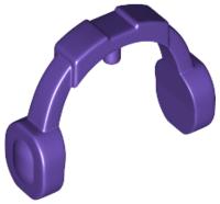 Lego alkatrész - Dark Purple Minifig, Ear Protector / Headphones